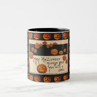 Vintage Smiling Halloween Jack o'Lanterns Coffee Mugs