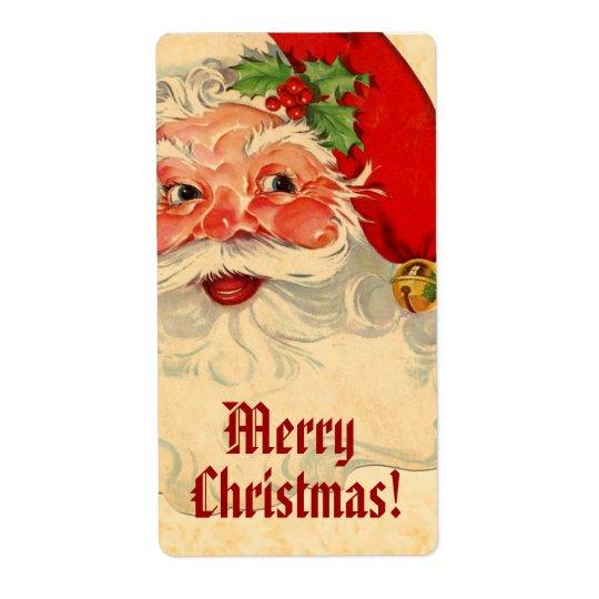 Vintage Smiling Santa Merry Christmas V01