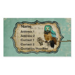 Vintage Smokey Rose Owl Business Card/Tags Pack Of Standard Business Cards