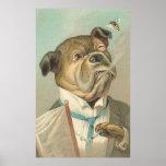 Vintage Smoking Bulldog