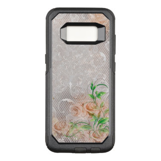 Vintage Smoky Peach English Roses Damask Toule OtterBox Commuter Samsung Galaxy S8 Case