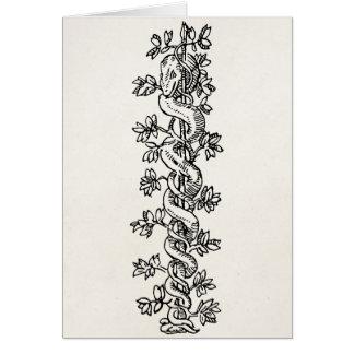 Vintage Snake Vine Serpent Border Parchment Frame Card