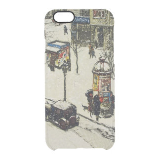 Vintage Snow Covered 1920s City Street Cars Winter iPhone 6 Plus Case