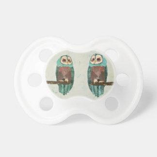 Vintage Snow Owl Pacifier
