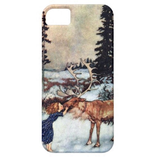 Vintage Snow Queen Fairy Tale with Gerda iPhone 5 Case