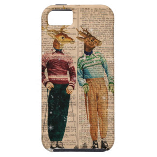 Vintage Snow Ski Deer Dictionary PageIPhone 5 Case