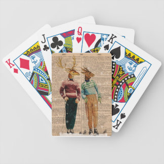 Vintage Snow Ski Deer Playing Cards