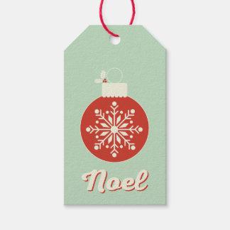 Vintage Snowflake Noel Gift Tags