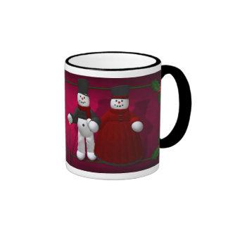 Vintage Snowmen: Lord & Lady Cool Ringer Mug