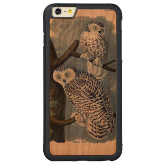 Vintage Snowy Owl Wooden iPhone 6 Plus Case