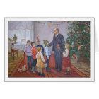 Vintage Socialist Realism Christmas with Lenin Card