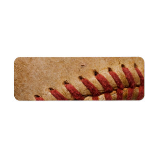 Vintage Softball - Sports Template Softballs Return Address Label
