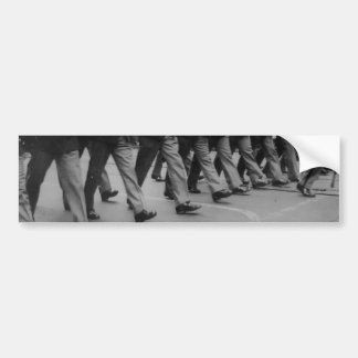 Vintage Soldiers Marching Footsteps Bumpersticker Car Bumper Sticker