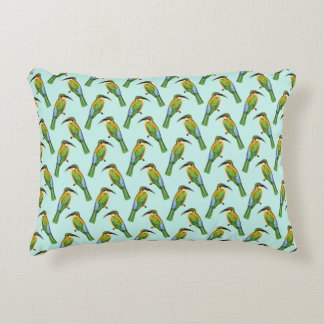 Vintage Somali Bee-Eater Bird Pattern Decorative Cushion