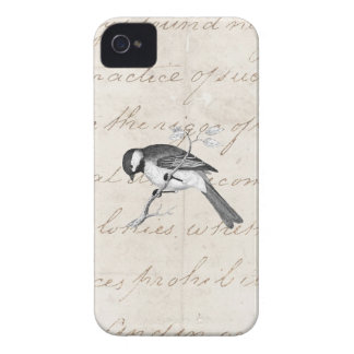 Vintage Song Bird Illustration -1800's Birds Text iPhone 4 Cover