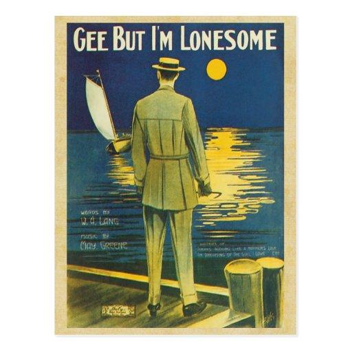 Vintage Song Sheets - I'm Lonesome Postcard