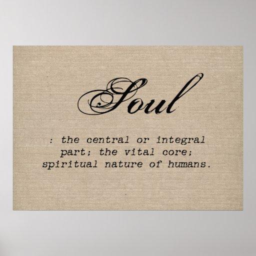 Vintage Soul Definition Rustic Burla Inspirational Posters
