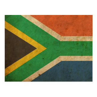 Vintage South Africa Flag Postcard