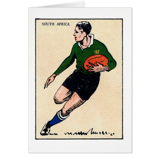 Vintage South Africa Rugby Card