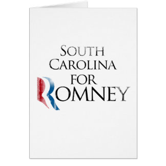 Vintage South Carolina for Romney -.png Greeting Card
