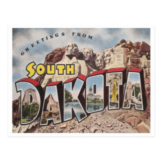 Vintage South Dakota Postcard
