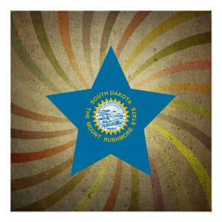 Vintage South Dakotan Flag Swirl