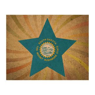 Vintage South Dakotan Flag Swirl Photo Cork Paper
