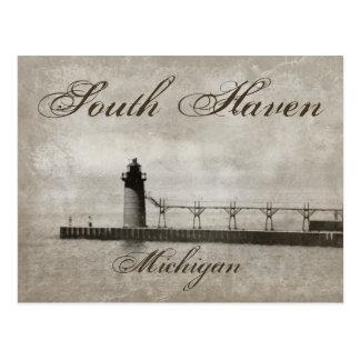 Vintage South Haven Michigan Lighthouse Postcard
