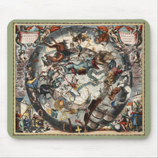 Vintage Southern Hemisphere Constellations Mouse Mat
