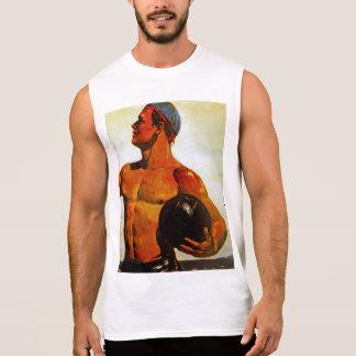 Vintage Soviet Hunk Sleeveless T-shirt