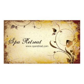 Vintage Spa Retreat Floral & Leafy Business Card