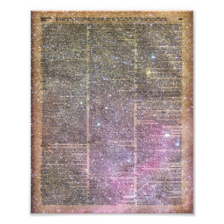 Vintage Space dictionary book Photo