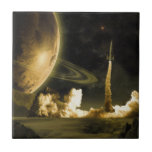 Vintage Space Launch Ceramic Tiles