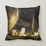 Vintage Space Launch Pillow