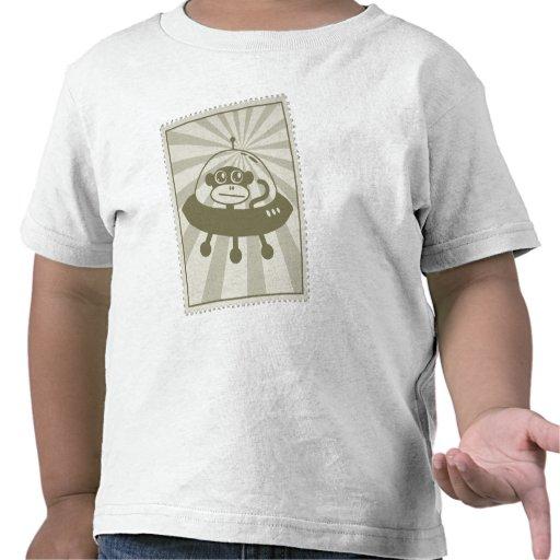 Vintage Space Monkey Stamp T-Shirt