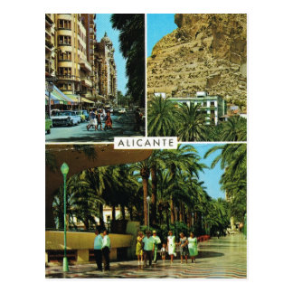 Vintage Spain, Alicante, multiview Postcard
