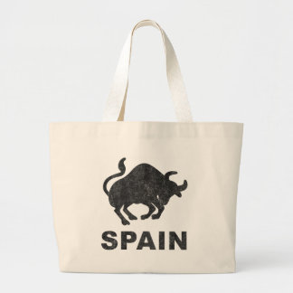 Vintage Spain Large Tote Bag