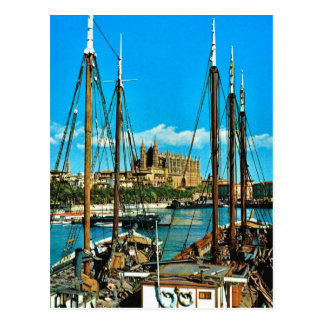 Vintage Spain, Mallorca, Palma Cathedral Postcard