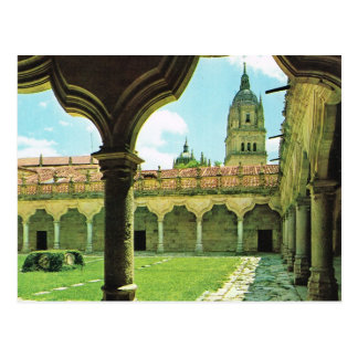 Vintage Spain Salamanca Schools Yard Cathedral Postcards
