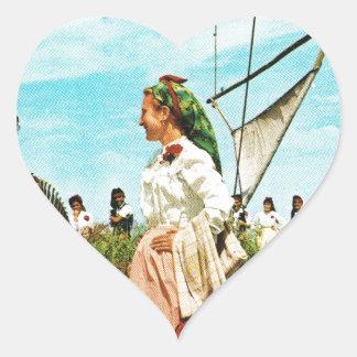 Vintage Spain Spanish folklore Heart Sticker