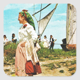 Vintage Spain, Spanish folklore Square Sticker