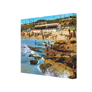 Vintage Spain, Tarragona, Costa Dorada, Spain, Canvas Print