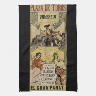 Vintage Spanish bullfighting Valencia Tea Towels