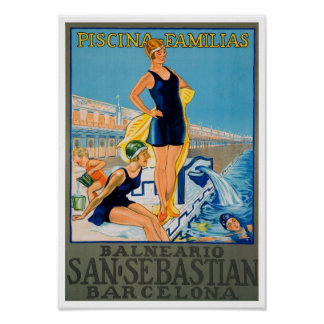 Vintage Spanish Travel Poster Print