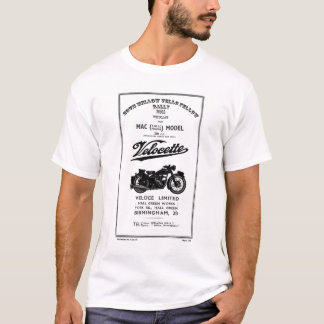 Vintage Spare Parts List Book 350cc MAC Velocette T-Shirt