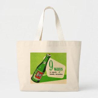 Vintage Sparkling Drink Ad Tote Bag