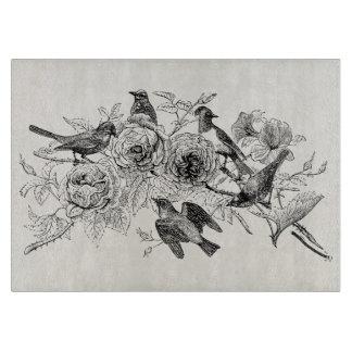 Vintage Sparrow Birds Personalized SparrowsBird Cutting Board