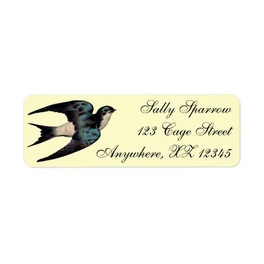 Vintage Sparrow Return Address Label