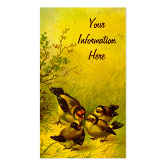 Vintage Sparrows Business Cards