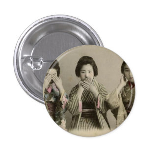 Vintage Speak No Evil 3 Cm Round Badge